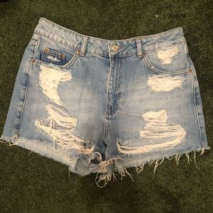 Top shop moto mom jean shorts. PERFECT CONDITION!